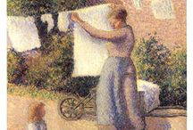 Camille Pissarro Art Prints / Discover Camille Pissarro art prints. Camille Pissarro contributed to the impressionism and post-impressionism art movements.  / by Bandaged Ear
