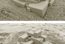 sand art / 砂を素材にした作品