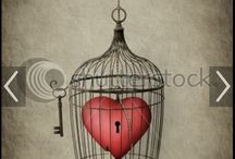 Caged heart tattoo