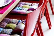 для стульев подушки