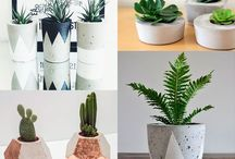 Cement pots painting ideas