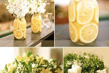 centros de mesa frutas