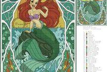 Punto de cruz Ariel