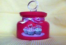 Ev Dekorasyonu / Dekupaj Çeşitleri. Hand made. Jars. Door decoratings
