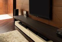 Tv wall veneer