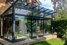 glass house balcony