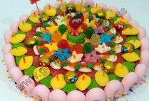 Tartas de gominolas, golosinas, chuches, candy. / Tartas de gominolas personalizadas hechas a mano.