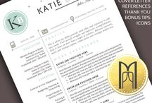 ALL OF MY Modern & Creative RESUME TEMPLATES / Land your dream job today with these clean, modern, creative & professional RESUME TEMPLATES with matching cover letter, references, thank you letter, further icons and bonus resume writing tips! Welcome in my shop on Etsy! MY PAPER PIG