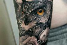 Татуировки сова