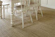Dining Room flooring ideas / Sisal, seagrass, coir, jute & wool natural flooring, carpets and rugs used in Kitchens & Dining rooms | Sisal Dining Room Carpet | Dining room flooring inspiration