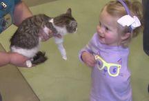 Scarlette et Doc / Amputée d'un bras, la petite Scarlette adopte un petit chaton à 3 pattes début 2016. Le duo fait le buzz aux Etats-Unis !