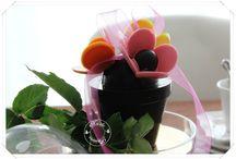 "table""pot de fleurs gourmand"""