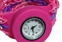 Loom Band Wrist Watches / Cool pictures of wrist watches made with loom rubber band refill.