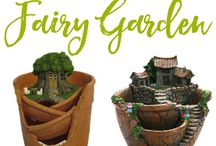 Fairy Garden Ideas / Create a beautiful and whimsical fairy garden using these tips and ideas. Whether you're making an indoor fairy garden or an outdoor fairy garden, I've rounded up some truly gorgeous products and inspiration!