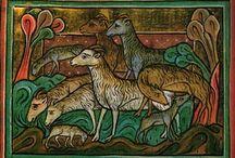 Kunst Schafe Sheep in art / Darstellung von Schafen und anderen Wolltieren in der Kunst