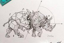 tatouage Rhino