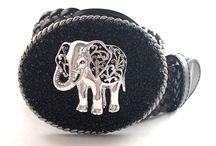 Beaded Buckles / Handmade belt buckles designed with seed beads.