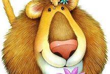 Lions - King the Jungle / Lion lions illustration