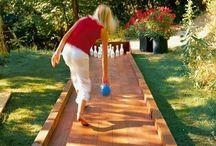 Bowling et jeu de quille en boit exterieur