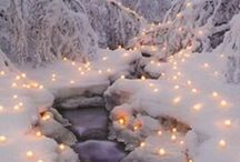winter wedding outdoor decoration and ceremony
