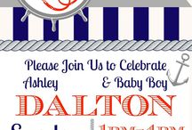 Nautical Baby Shower Ideas / Are you hosting a Nautical or Ocean themed baby shower.  There are a ton of themed food, games, arts and crafts as well as DIY ideas and printables for the perfect Nautical baby Shower.