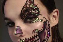 scull make up- love