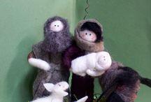 vánoce s ovčí vlnou