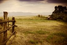 Ranches, farms and country scenes