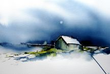 Akvarell bilder