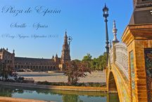 Seville, Spain - August 2013 / Seville is located in the South of Spain on the plain of the Guadalquivir river.   In 207 B.C., the Romans built Itálica, the centre of their Western Mediterranean dominions for seven centuries until Northern barbarians overran the Roman empire at the beginning of the 10th century.   The long Moorish occupation of the Iberian peninsula, from 711 A.D. to 1248 A.D., left indelible traces in Seville.   In 1492 Seville played an important role in the discovery and conquest of America.