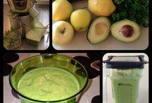 Juice og smoothies / Hjemmelavede juicer og smoothies af økologisk frugt og grønt