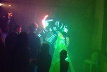 Echassier robot lumineux