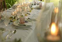table setting rustico chic