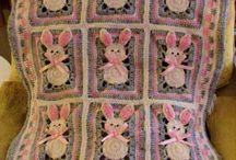 bunny square blanket