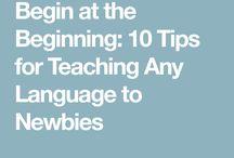 Teaching a language