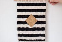 wall hangings. / weavings and wall hangings by Laura Milsom