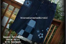 Clothes / Denim skirts