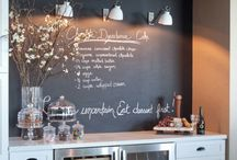 Chalk Board Obsessions / The inner child in me still loves chalkboards....!