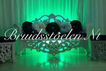 Bruidstoel wit / Klassiek modern en uniek