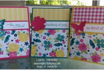 Stampin Up Gingham Garden / Items made using Gingham Garden Papers