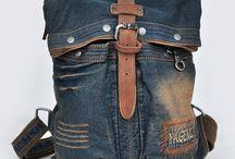 джинсовые, текстильные сумки, рюкзаки