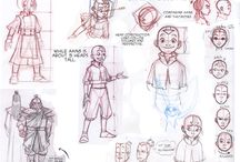 Animation character design sheets