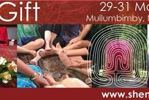 The Gift - A Woman's Rite to HerSelf / A three-day experience that women worldwide have been attending for over 19 years.  A place that provides a gateway for you to transition and call in for yourself what you long for in a safe and non judgmental space. The Gift is a unique journey of initiation for women into the mystery of the Feminine self. It is not therapy or fixing anything that is wrong, rather a place of honesty, validation and renewal.   Give yourself permission to find your true self ... The Gift - www.shematrix.com