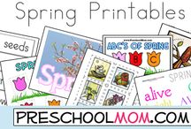All About Spring / Spring flowers and new life bring fun ways to create art projects based around the months of March, April and May.