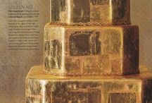 Gold Wedding Cake Inspiration