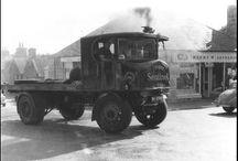 UK Steam lorries (B&W)