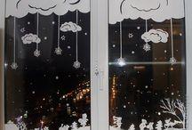 Vánoční dekorace  do oken