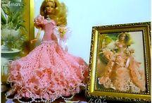 Barbie By Dalva Mora / robe  pour Barbie réalisées au  crochet et en couture