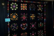 Quilts with darker backgrounds old and new