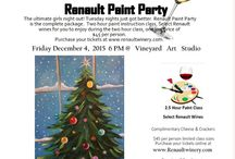 Vineyard Art Studio Paint Night / A fun way to spend with the girls! Paint+Wine=Fun  / by Renault Winery